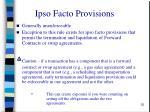 ipso facto provisions