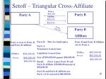setoff triangular cross affiliate