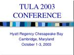 tula 2003 conference