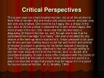 critical perspectives1