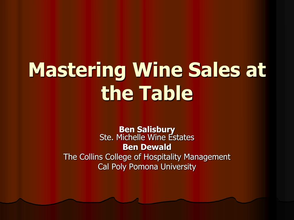Mastering Wine Sales at the Table