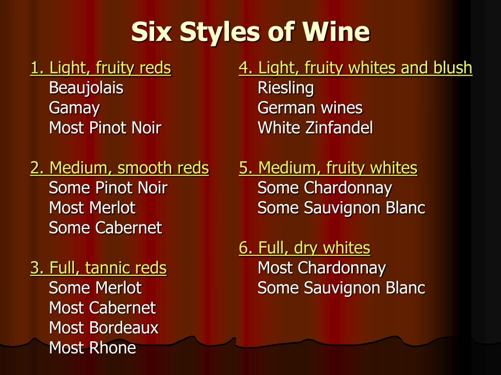 1. Light, fruity reds