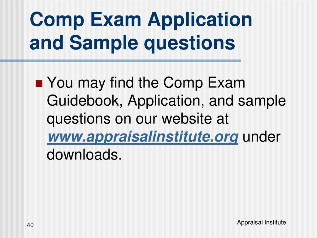 Comp Exam Application and Sample questions