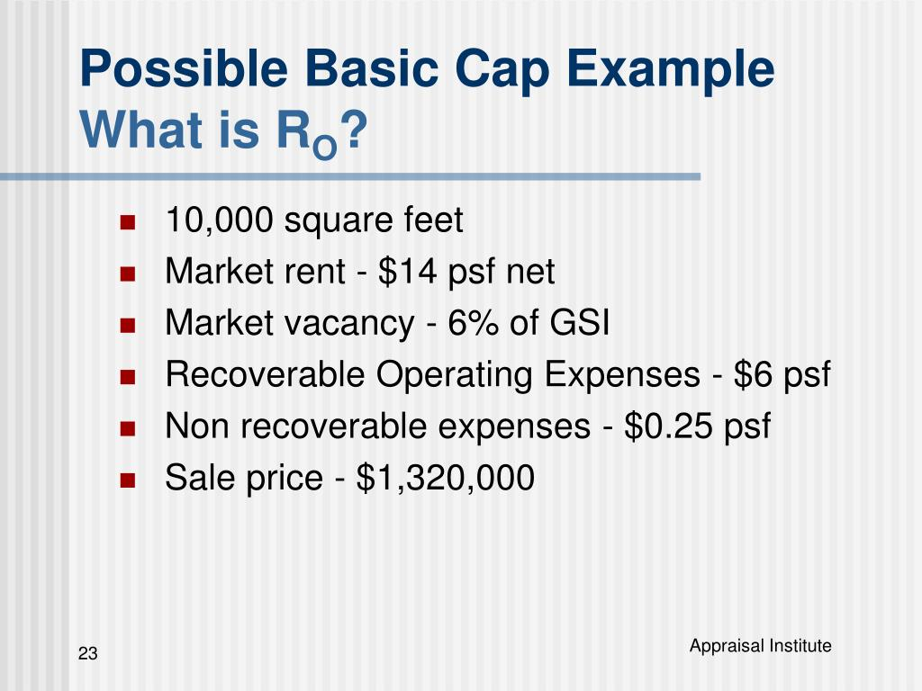 Possible Basic Cap Example