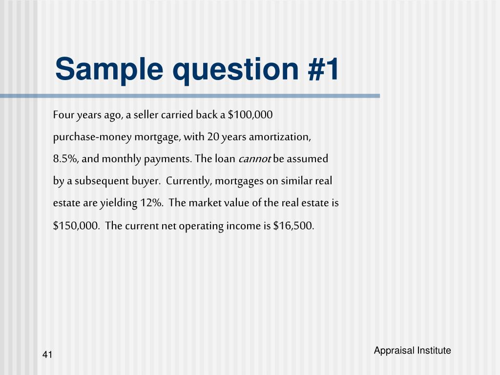 Sample question #1