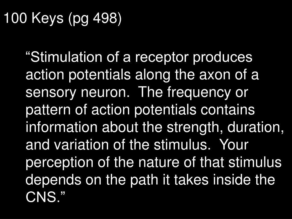 100 Keys (pg 498)