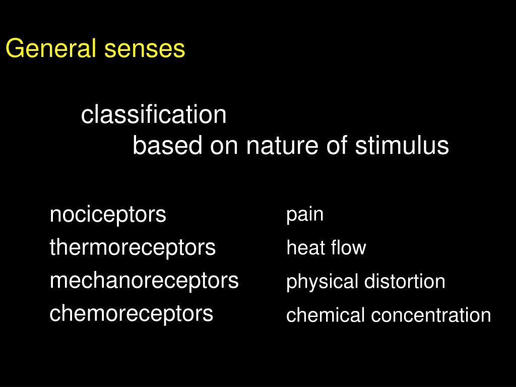 General senses