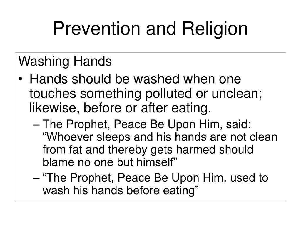 Prevention and Religion