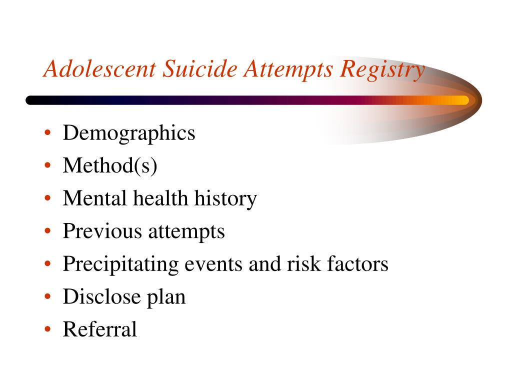 Adolescent Suicide Attempts Registry