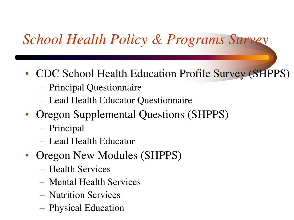 School Health Policy & Programs Survey