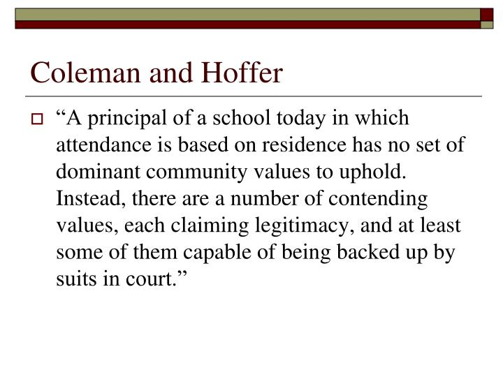 Coleman and Hoffer