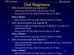 oral regimens