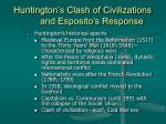 huntington s clash of civilizations and esposito s response23