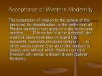 acceptance of western modernity16