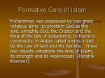 formative core of islam