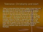 tolerance christianity and islam