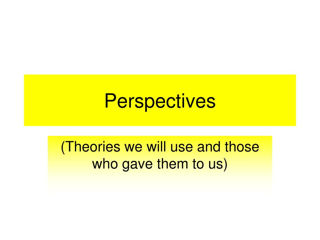 perspectives l.