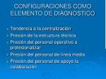 configuraciones como elemento de diagnostico