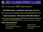 for even more epa information
