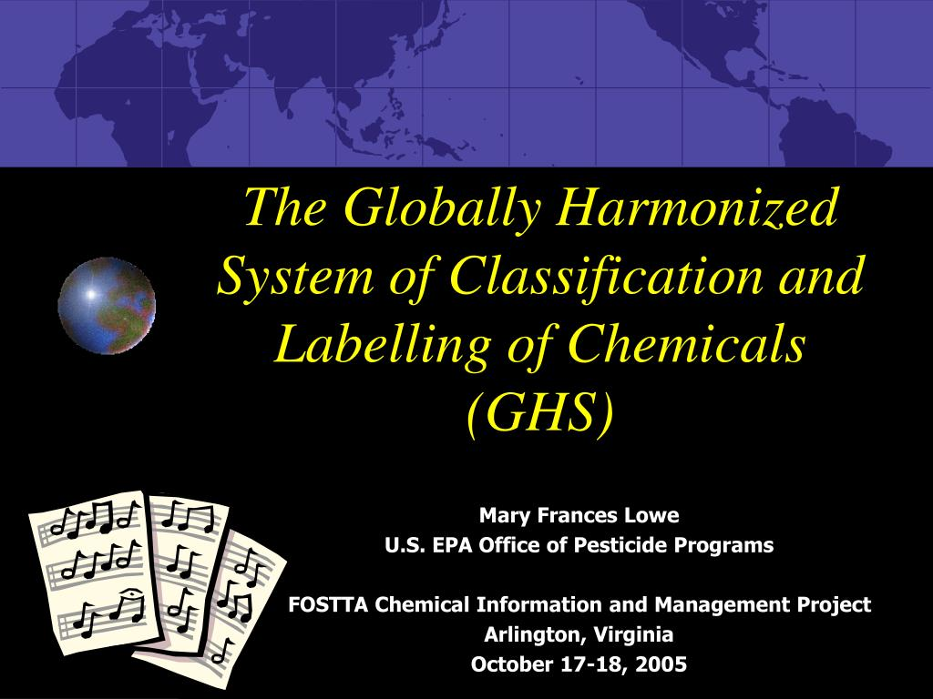 the globally harmonized system of classification and labelling of chemicals ghs l.