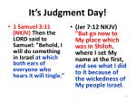 it s judgment day