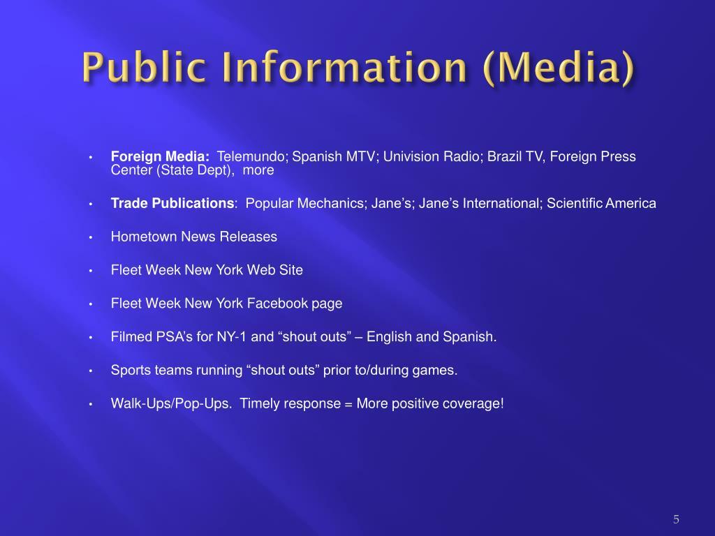 Public Information (Media)