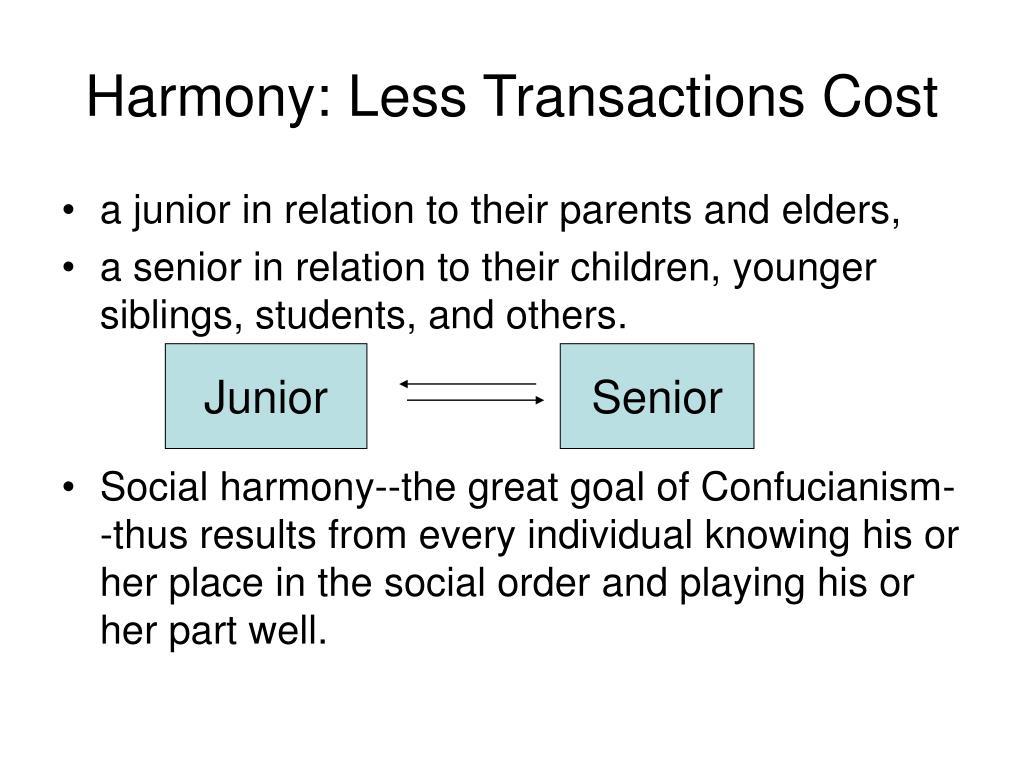 Harmony: Less Transactions Cost