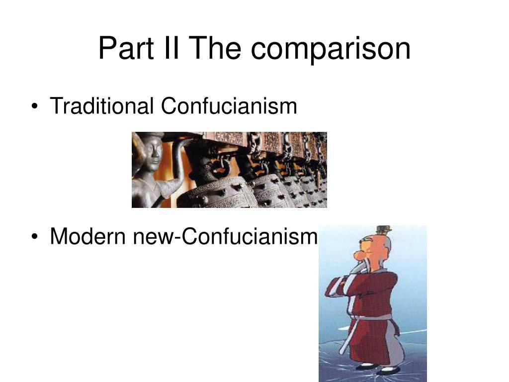 Part II The comparison
