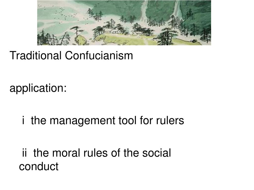 Traditional Confucianism