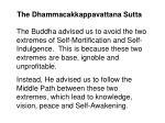 the dhammacakkappavattana sutta21