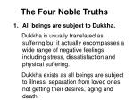 the four noble truths32