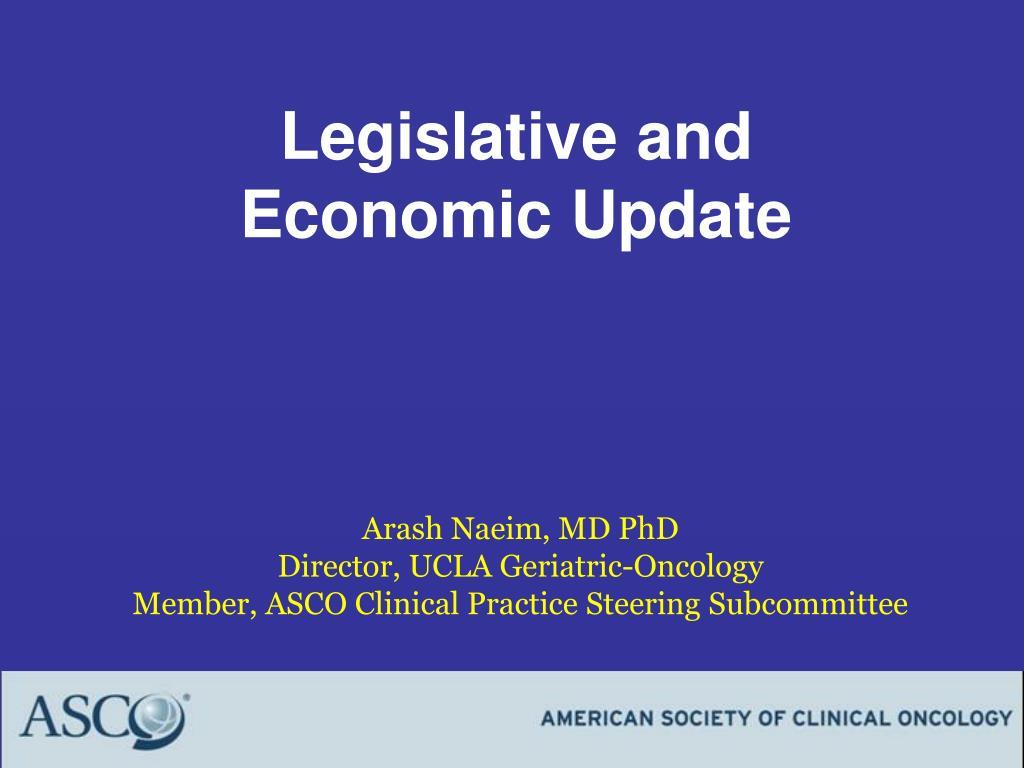 legislative and economic update l.