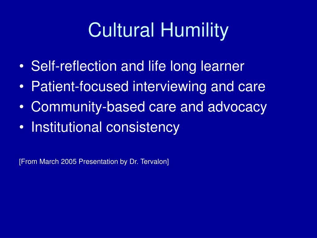 Cultural Humility