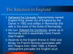 the situation in england