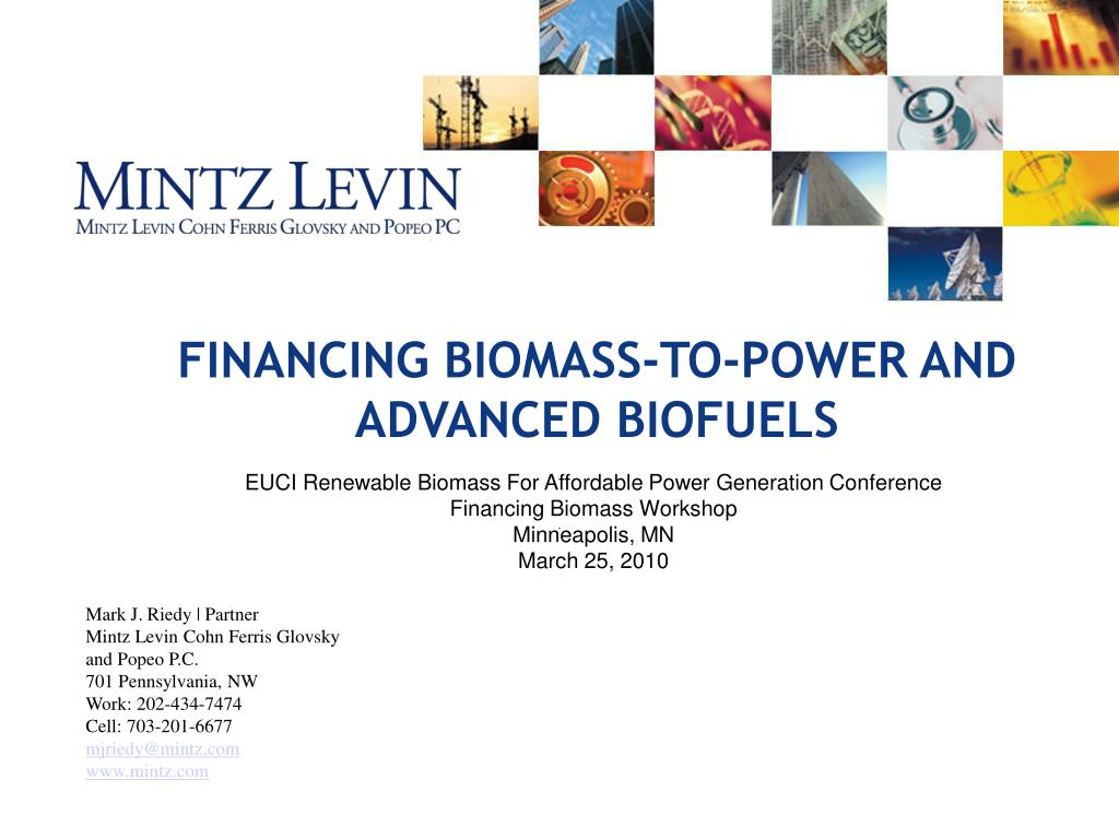 financing biomass to power and advanced biofuels l.