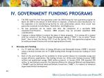 iv government funding programs50