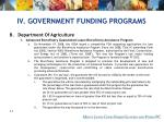 iv government funding programs53