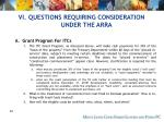 vi questions requiring consideration under the arra70