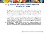 vi questions requiring consideration under the arra72