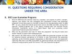 vi questions requiring consideration under the arra75