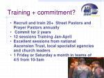 training commitment