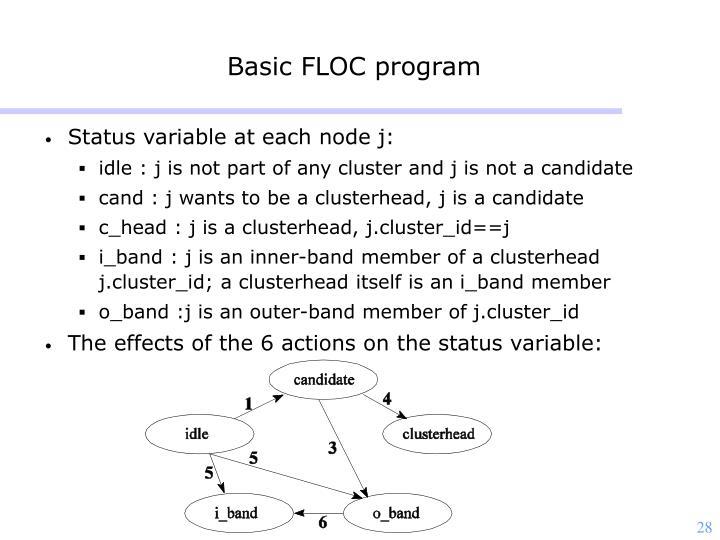 Basic FLOC program