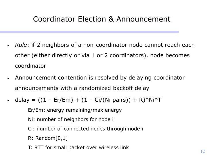 Coordinator Election & Announcement