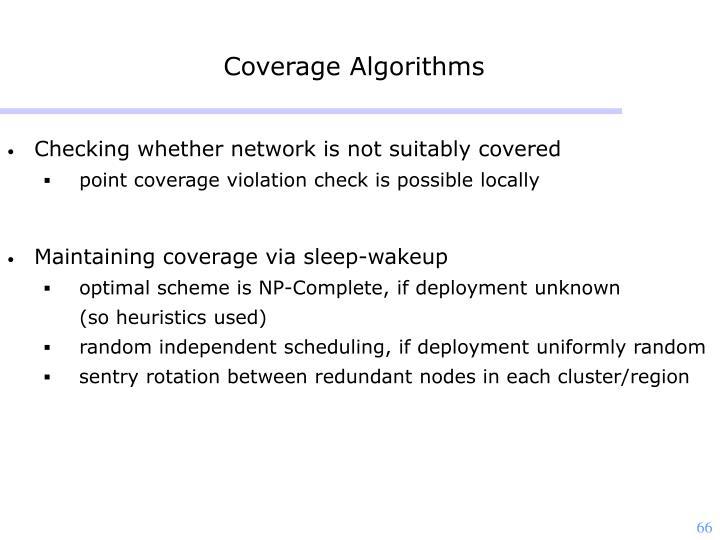 Coverage Algorithms