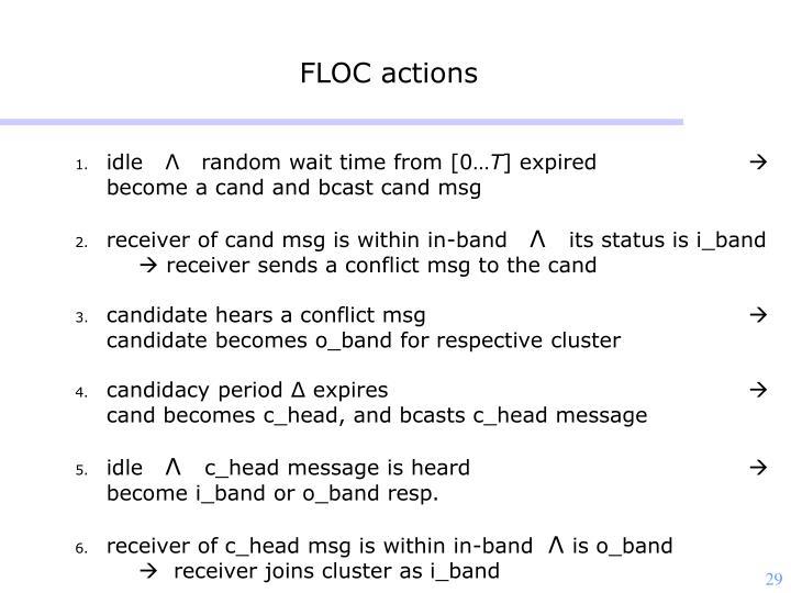 FLOC actions