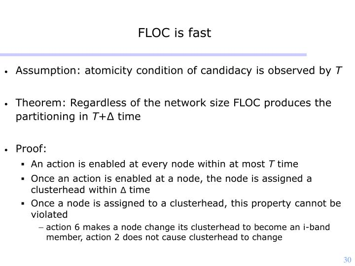 FLOC is fast