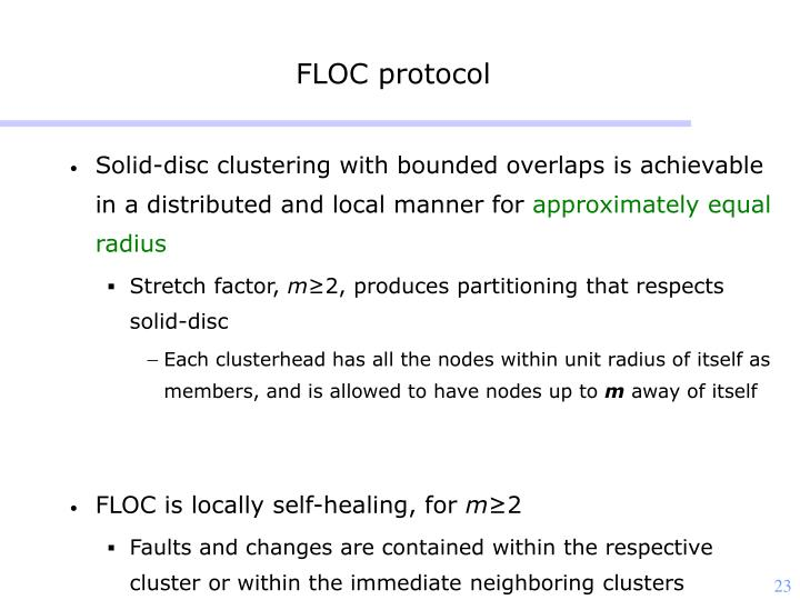 FLOC protocol
