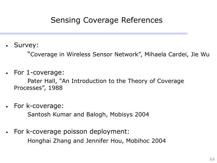 Sensing Coverage References