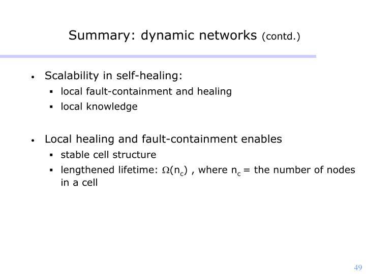 Summary: dynamic networks
