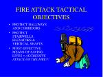 fire attack tactical objectives